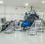 док для обслуживания для вертолета / для фюзеляжа / фиксируемый / мобильный