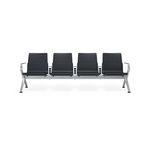 кресла для залов ожидания для аэропортов / 4 места / из металла / с объединенной системой электропитания